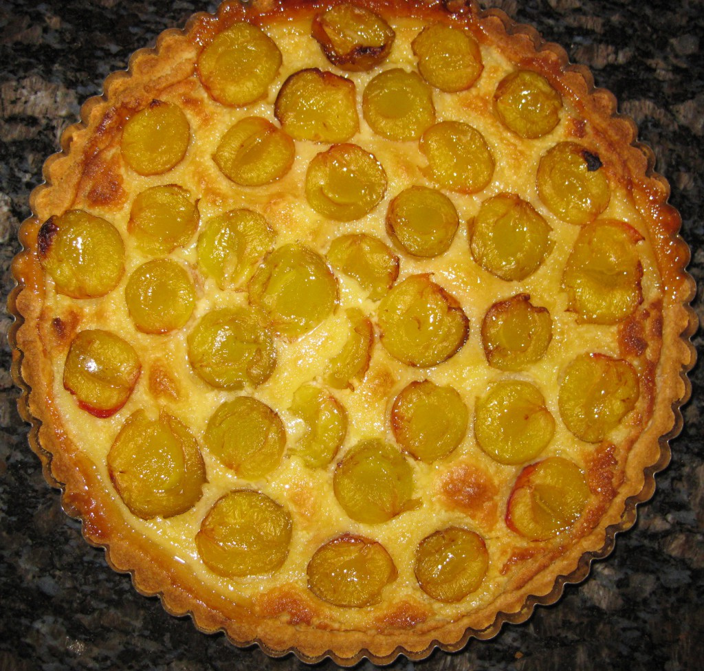 Greengage and Almond Tart